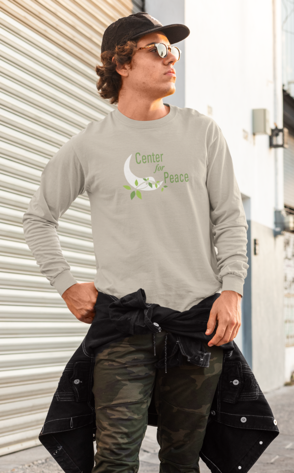 Center for peace lomg sleeve shirt front